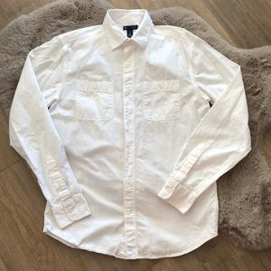GAP Classic Fit Casual Button Up Long Sleeve Shirt
